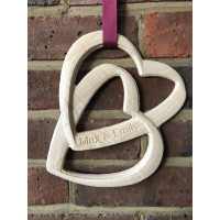3D Personalised Interlinked Love Hearts