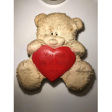 Personalised Bear holding your Heart
