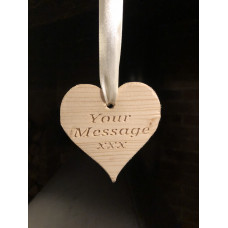 Small Hanging Personalizsed Love Heart.